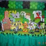 Decoração de festa de aniversário Ben 10
