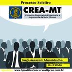 Apostila Processo Seletivo Crea-MT - Assistente Administrativo - 2014