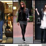 Casacos de couro femininos da moda