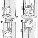 Aperto no elevador
