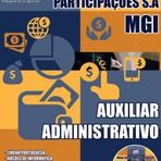 Apostila Concurso Público MGI - Minas Gerais Part. S/A 2014. Grátis CD-Rom Auxiliar Administrativo