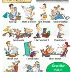 Descrevendo sua rotina diária em inglês