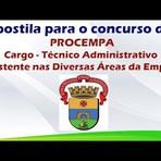 Apostila para o Concurso da PROCEMPA Cargo Técnico Administrativo – Assistente nas Diversas Áreas da Empresa