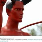 Internacional - Estátua de demônio com pênis ereto é instalada em praça e choca canadenses
