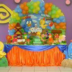 Veja decoração de festa infantil da galinha pintadinha