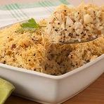 Culinária - Arroz sete grãos com castanhas e queijo