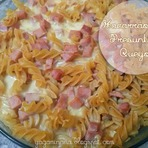 Culinária - Receita: Macarrão com Presunto e Queijo