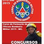 Novo Concurso do CBMMG - CFO BM MG 2015  - Curso de formação de oficiais Bombeiro Militar de Minas Gerais-