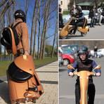 Utilidade Pública - Scooter Elétrico se Transforma em Mochila e Mala