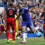 Com show e recorde de Diego Costa, Chelsea faz 4 no Swansea e vira líder isolado