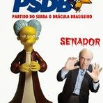 Memes - Sr. José Serra Burns o Senador Drácula da Playmates.