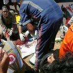 Grave acidente hoje pela manha em Araguaina deixa motociclista com fratura exposta