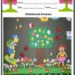 Atividade pedagógica sobre a primavera - Educação Infantil