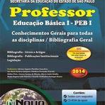 Apostila SEE-SP 2014 - Professor de Educação Básica I