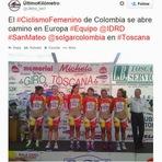 """Esportes - VOCÊ VIU? UNIFORME QUE DEIXA CICLISTAS COLOMBIANAS """"SEMINUAS"""" GERA POLÊMICA"""