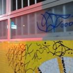 Posto de salva-vidas é pichado e lixeiras vandalizadas em Balneário Camboriú