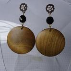 Mulher - Modelos de brincos de madeira feminino
