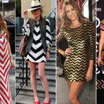 Mulher - Opções de vestidos em zig zag