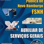 Apostila para o concurso da Fundação de Saúde Pública de Novo Hamburgo FSNH Cargo - Auxiliar de Serviços Gerais