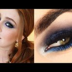 Maquiagem azul da Marina Ruy Barbosa