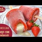 Receita de sorvete Paleta Mexicana caseiro