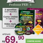 Apostila SEE-SP 2014 - PROFESSOR PEB I - duas apostilas geral e específica, curso online legislação e redação.