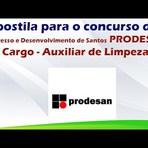 Apostila para o processo seletivo do Progresso e Desenvolvimento de Santos PRODESAN Cargo - Auxiliar de Limpeza
