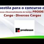 Apostila para o processo o concurso do Progresso e Desenvolvimento de Santos PRODESAN