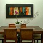 Quadros abstratos para sala de jantar