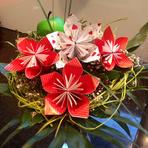 Flor de Origami, faça você também!