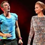 Celebridades - Jennifer Lawrence é convidado de honra do Coldplay em Los Angeles