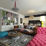 Veja esse incrível apartamento decorado em estilo Pop Arte