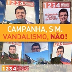 Wolney Queiroz repudia destruição de propaganda eleitoral