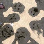 Fotos - Assombrações na areia