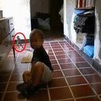 Criatura misteriosa que aparece correndo perto de bebê deixou internautas apavorados