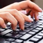 Treinar, estudar e fazer a prova de digitação para concurso público