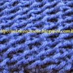 Lindo Cachecol Azul de tricô