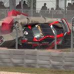 Piloto bate a 200 km/h após perder os freios durante uma corrida do Continental Tire SportsCar Challenge