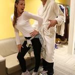 Giba e esposa Maria Luiza ousam na pose nos bastidores do Dança