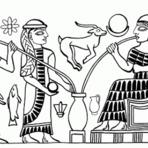 Pintura - Uma cena mítica da Mesopotâmia