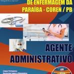 Apostila para o concurso do Conselho Regional de Enfermagem da Paraíba COREN – PB Cargo - Agente Administrativo