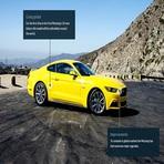 2015 o poder no asfalto do Mustang  moderno