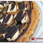 Receita Torta de Doce de Leite com Banana e Chocolate