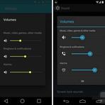 Portáteis - Comparação visual do Android Kit Kat com o do Android L
