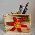Hobbies - Artesanato Feito com Palito de Picolé - Reciclagem