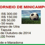 Serra da Tapuia: Torneio de Minicampo Será realizado no dia 19 de outubro, no Campo de Uíra