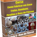 Curso ensina a fazer Trufas, Bombons, Pirulitos e Ovos de Páscoa