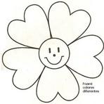 Moldes de Flor para Imprimir e Colorir