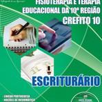 Apostila para o concurso do Conselho Regional de Fisioterapia e Terapia Ocupacional da 10ª Região CREFITO Escriturário