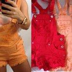 Jardineiras coloridas moda verão 2015